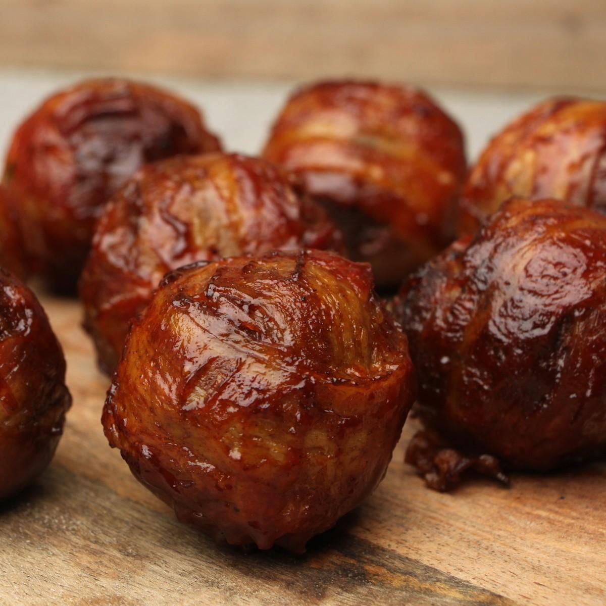 BBQ Bacon Bourbon Meatballs